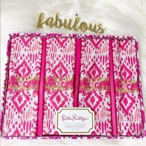 Lily Pulitzer pink It's summer Somewhere napkins